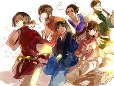 Hetalia - China, Hong Kong, Japan, Taiwan, South Korea and Macau