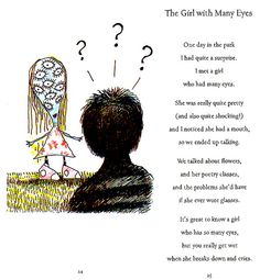 'The Girl with Many Eyes' (from Tim Burton's 'The Melancholy Death of Oyster Boy and other stories') Tim Burton Rhymes Tim Burton Poems, Tim Burton Art, Tim Burton Style, Estilo Tim Burton, Sweeney Todd, Tumblr, Beetlejuice, Melancholy, Nightmare Before Christmas