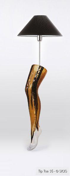 Tip Toe Gold Mosaic Floor Lamp :: Sicis ツ
