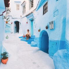 The small Moroccan town of Chefchaouen - filled with a thousand shades of blue. I spent my last days wandering these fairy tale like streets, it's a place like no other and one of the highlights of my Morocco trip! #JourneysThatInspire #RCMemories @RitzCarlton
