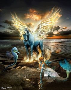 unicorns and fairies | ... art and Angels | Angels, Fairies, Mermaids, Unicorns  Drag