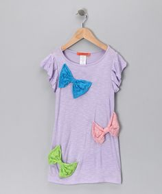 Love this Funkyberry Purple Bow Dress - Toddler & Girls by Funkyberry on #zulily! #zulilyfinds