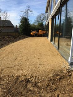 Rear paving base layer 22/02/2016 Stamford, Nottingham, Under Construction, Country Roads, Base