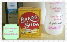 DIY Stain Remover and Detergent Booster ~ Homemaking 101 Week #4 - Cupcakes & Crinoline