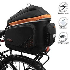 Ibera 2 in 1 PakRak Commuter Bicycle Trunk Bag with Expandable Panniers, Clip On Quick Release Design and Detachable Shoulder Strap http://coolbike.us/product/ibera-2-in-1-pakrak-commuter-bicycle-trunk-bag-with-expandable-panniers-clip-on-quick-release-design-and-detachable-shoulder-strap/