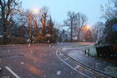Down south: This image from Hertfordshire shows that the snow also made itself felt farther south. Flurries were due to continue in London and Kent into early morning/21 Nov 2015