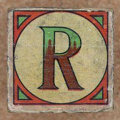 Vintage brick letter R by Leo Reynolds, via Flickr
