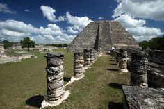 Ruins of Mayapan, Yucatan, Mexico.