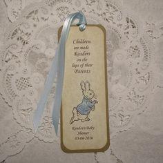 10 Peter Rabbit Baby Shower Bookmark Favors / by FyreflyHollow