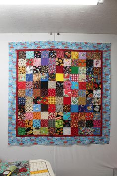 Another photo of the I Spy Quilt.