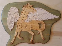 woodarsia: Pegasus - 80+ pieces ,made out of plywood and used...