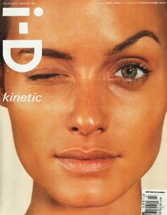 "lelaid: "" Amber Valletta by Richard Burbridge for i-D, March 1999 "" Richard Burbridge, Amber Valletta, Illuminati, Id Magazine, Magazine Covers, Fashion Cover, 00s Fashion, Fashion Models, High Fashion"
