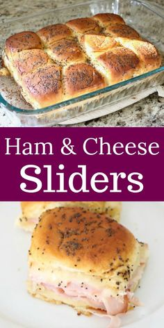 Baked Ham and Cheese Sliders are the perfect quick and easy sandwich recipe or appetizer that everyone will love!