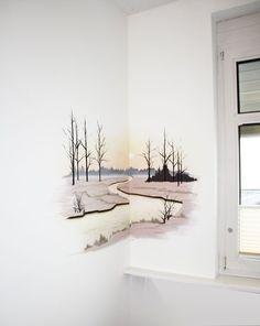 Wall Painting Decor, Mural Wall Art, House Painting, Wall Decor, Wall Paintings, Painting Art, Fabric Painting, Wall Art Designs, Paint Designs