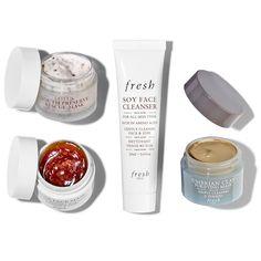 MINI MASK SET - Fresh | Sephora Makeup Gift Sets, Skin Mask, Beauty Inside, Pretty Birds, Cleanser, Sephora, Bath And Body, Beauty Makeup, Hair Care