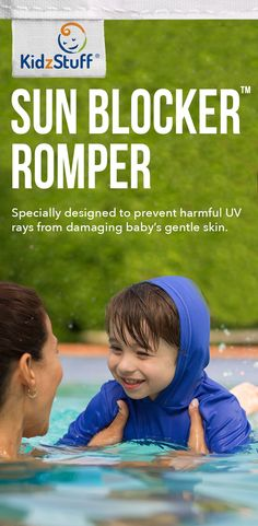 Have you been protecting your baby's skin this Summer? It can be as easy as making sure they wear a Kidzstuff UV protective romper when swimming or enjoying the outdoors. We sell the only upf clothing onesie for babies with built-in hoodies to protect even more of their gentle skin, making your job as a parent easier. Get the KidzStuff Sun Blocker Romper in sizes from 0 – 24 months now. Shop: http://www.shopkidzstuff.com/sun-blocker-romper/