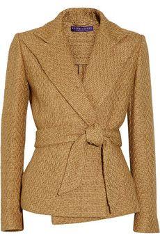 Ralph Lauren Collection - Eldridge basketweave cotton-blend jacket