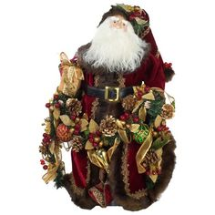 buy kurt adler fabric decorated santa figure from at bed bath beyond add a classic touch to your christmas dcor with the elegant fabric decorated santa - Kurt Adler Christmas