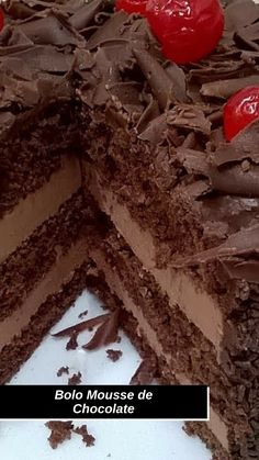 Chocolate Lovers, Chocolate Recipes, Delicious Desserts, Yummy Food, Cake Recipes, Dessert Recipes, Bakery Cakes, Aesthetic Food, Food And Drink
