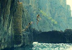 """Mallorca cliff jumping, Majorca Spain"""