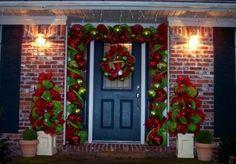 christmas door decorating ideas | Simple Christmas Door Decorations - TrendSlidingDoors.com