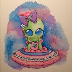 What a cute alien drawing hehhee