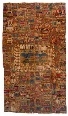 """textile-museum: """" • Tunic, Peru, Huari Style, ca. 850-950. L: 210.00 cm, W: 59.00 cm. TM 91.351. Acquired by George Hewitt Myers in 1941. """""""