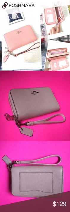 a6220a3e4c COACH WALLET AUTHENTIC BEAUTIFUL LIGHT PINK COACH WALLET EMBOSSED LEATHER  6