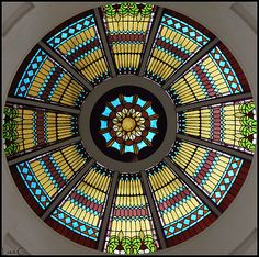 stained glass dome in the Old Florida Capitol, Tallahassee