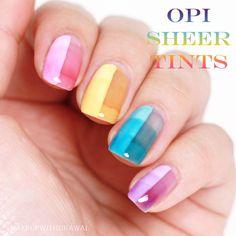 Makeup Withdrawal: OPI Sheer Tints