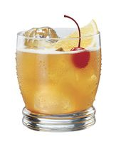 ☞ Classic Vieux Carre Cocktail Whiskey and Cognac Recipe (image: The Chrysanthemum) - Ingredients: 3/4 ounce rye whiskey, 3/4 ounce Cognac, 3/4 ounce sweet vermouth, Dash Peychaud's bitters, Dash Angostura aromatic bitters, 1/2 teaspoon Benedictine liqueur, Cherry for garnish. *Preparation: Combine the ingredients in a mixing glass filled with ice. Stir well. Strain into an old-fashioned glass filled with ice. Garnish with a cherry.