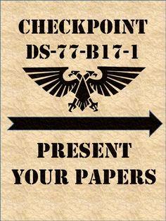 Humor, Poster, Propaganda, Terrain, Warhammer 40,000
