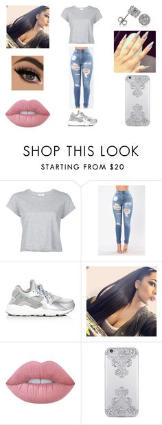 """Untitled #127"" by gigibaby7 ❤ liked on Polyvore featuring RE/DONE, NIKE, Lime Crime, Nanette Lepore and BERRICLE"