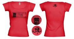 """Tee-shirt femme Rouge à Lèvre  Création de t-shirts avec des créateurs du collectif """"T'as pas vu mon éléphant?"""" Site de créations fait main et d'illustrations. www.tpvme.com"""