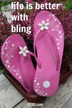 dacb0837336 200 Best Bling Flip Flops images