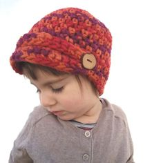 Colorful newsboy hat for kids Purple red orange cap Casual hat Soft wool  crochet Cozy newsboy beanie Toddler Christmas gift idea CHOOSE SIZE a0b0165059a8
