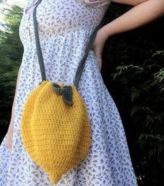— SOLD / 🍋✨🍃🌿 a cute small crochet lemon bag :) now. Crochet Crafts, Yarn Crafts, Knit Or Crochet, Cute Crochet, Crochet Projects, Sewing Crafts, Crochet Things, Crochet Designs, Crochet Patterns