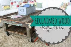 reclaimed wood coffee table {& a little rearranging!} — The Pleated Poppy