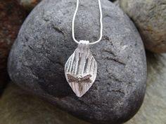 Dragonfly leaf pendant fine silver by SilverWindsJewellery on Etsy