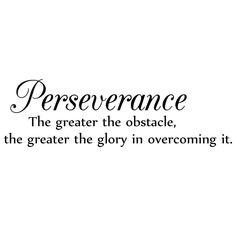 Perserverance Quote Wall Vinyl