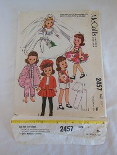 """Doll Pattern McCalls 2457 8"""" Betsy McCall"""