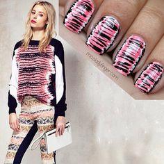 .@Christina Childress Childress & Minkoff   Regram @Melissa Squires Squires Henson Ladyfinger. Love this nail art inspired by #RMresort2014   Webstagram