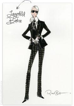Fabulous Doodles- Karl Lagerfeld Barbie