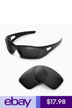 8622d390c5 Walleva Black Replacement Lenses for Oakley Crankcase Glasses