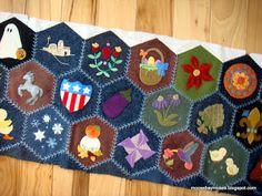 Stitching Society Wool Hexagons