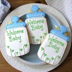 Baby Shower Cookies by KaysBakery on Etsy, $15.00