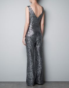 LONG SEQUINNED JUMPSUIT - Dresses - TRF - ZARA