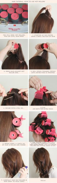great video on using hot rollers heat them 20 mins then leave them on till completely cooled