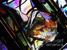 Glass Abstract 314    by S Loft