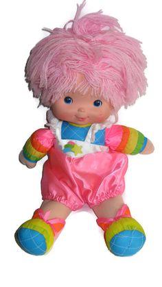 Rainbow brite doll baby brite pink hair by ExperiencedFindings